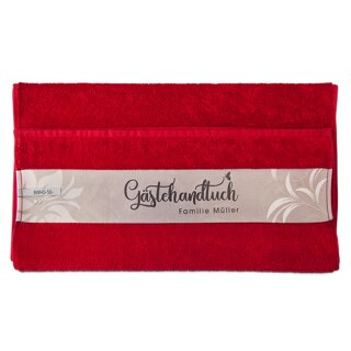 Baumwoll Handtuch Rot
